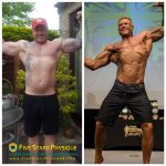 My UKBFF client Vinny, from the start of prep to show day
